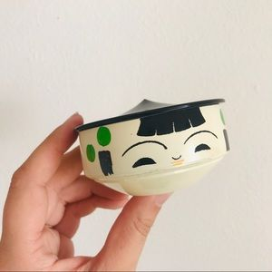 Vintage Japanese painted melamine kokeshi box